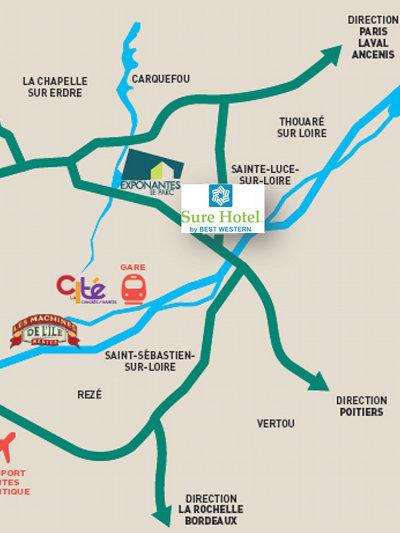 Plan Acces Sure Hotel Beaujoire