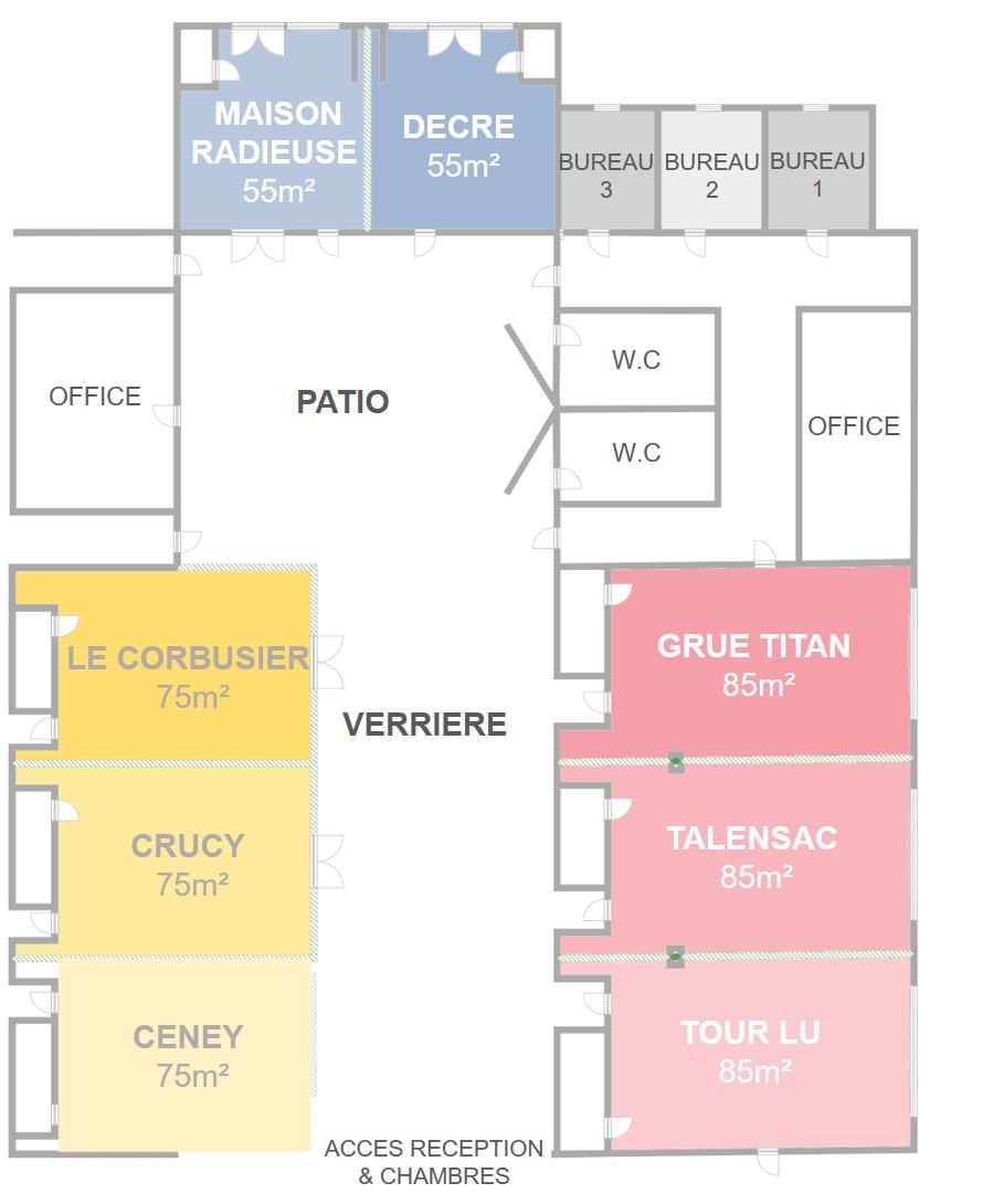 Plan Salle de séminaires